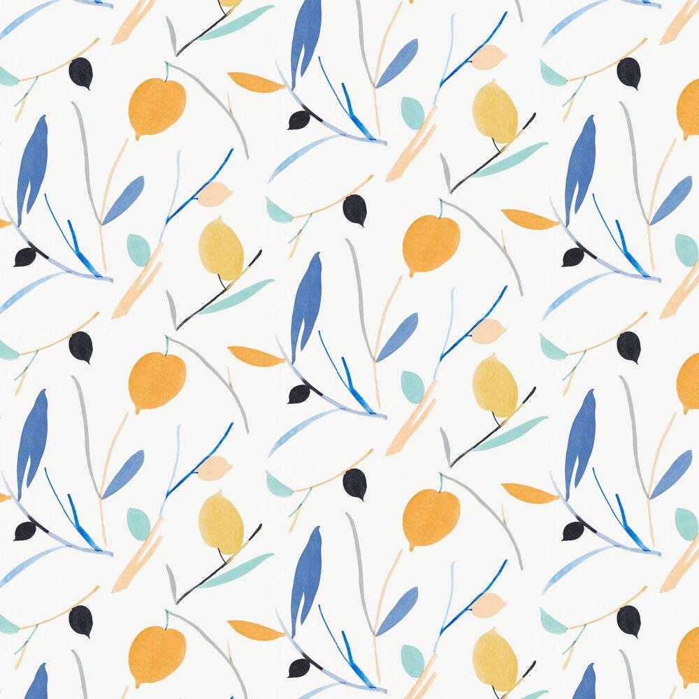 Oxalis Wallpaper - Papaya / Honey - by Scion