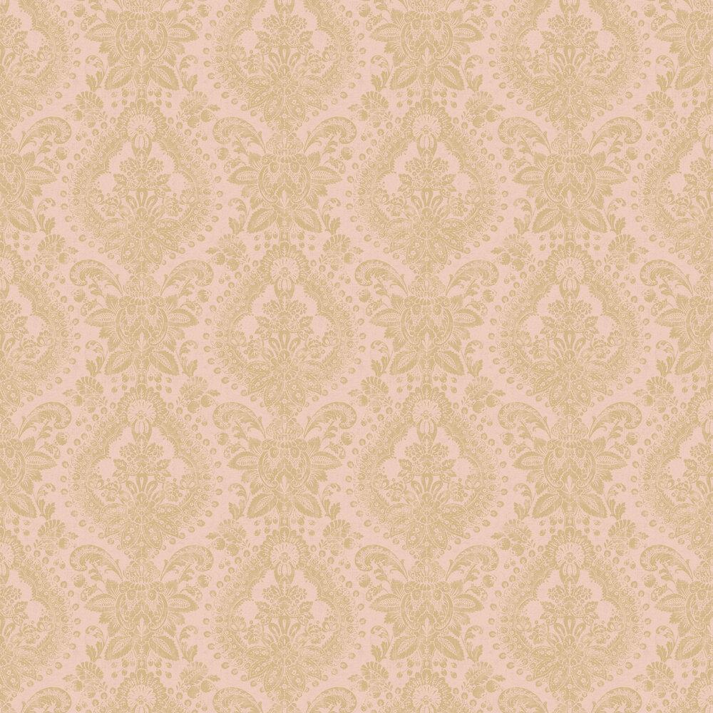 Boudoir Medallion Wallpaper - Pink - by Boråstapeter