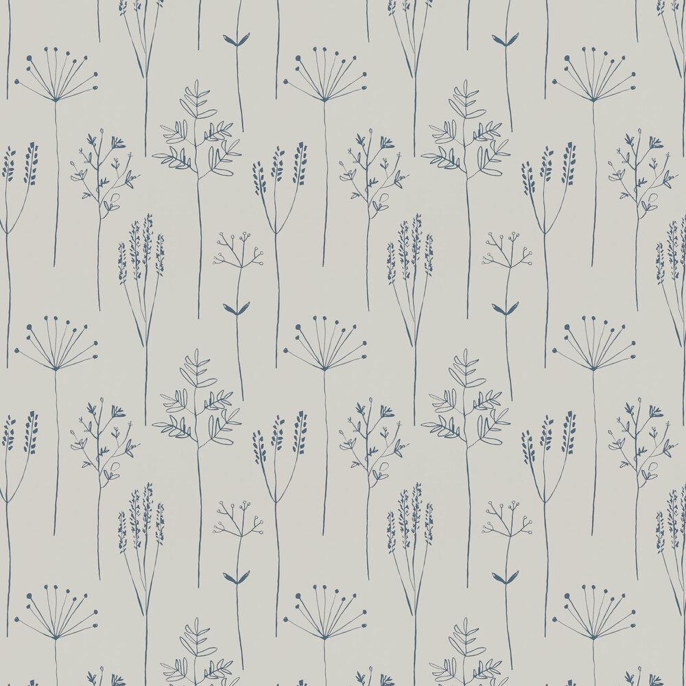 Stipa Wallpaper - Denim - by Scion