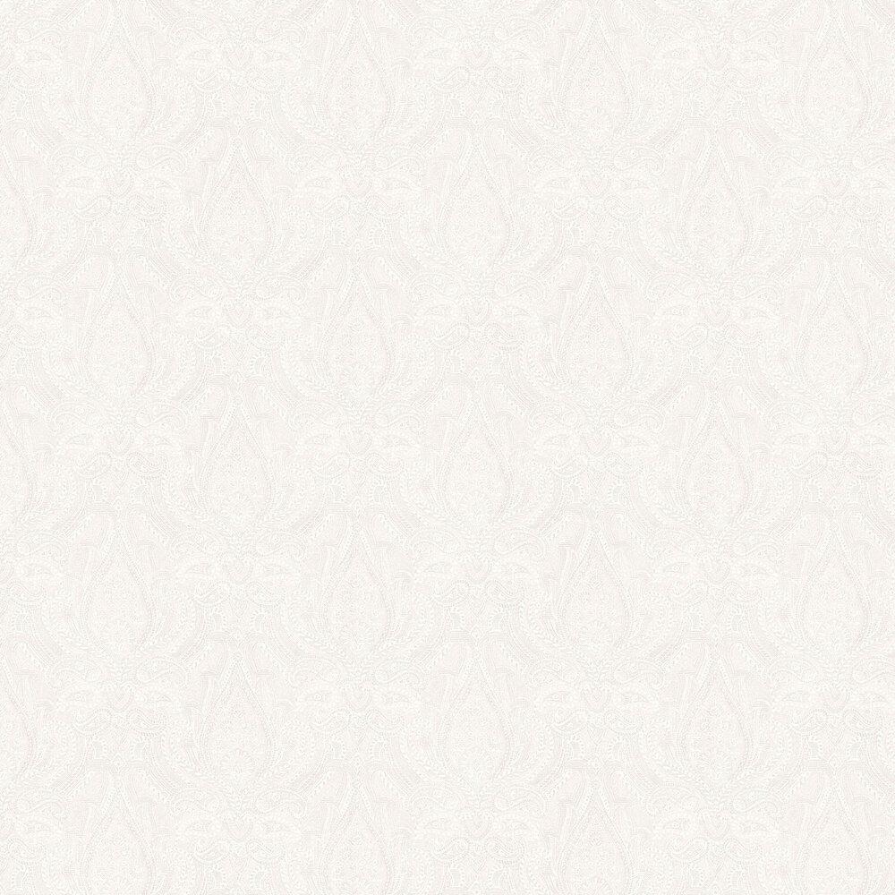 Divine Paisley Wallpaper - White - by Boråstapeter