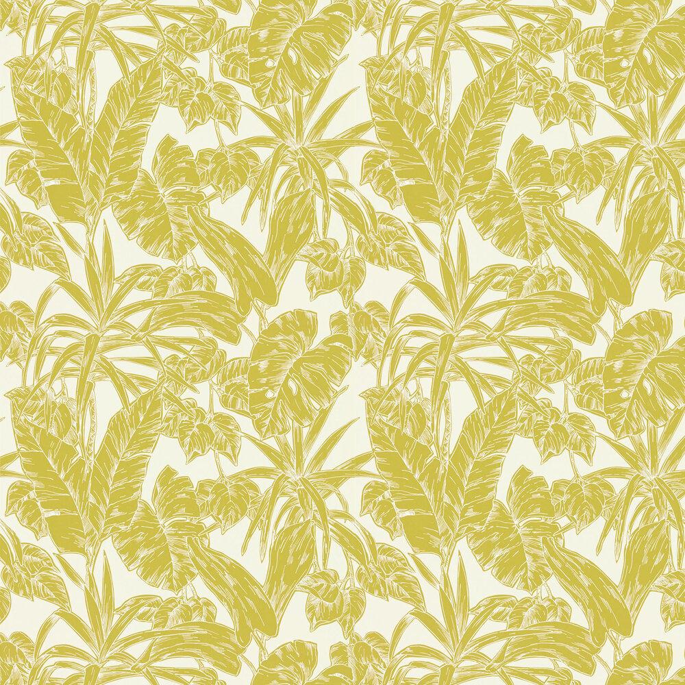 Parlour Palm Wallpaper - Citrus - by Scion