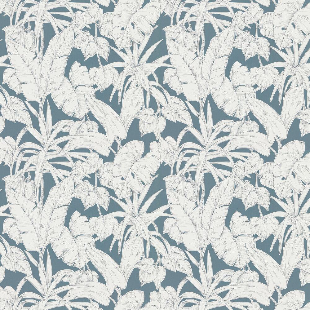 Parlour Palm Wallpaper - Charcoal - by Scion