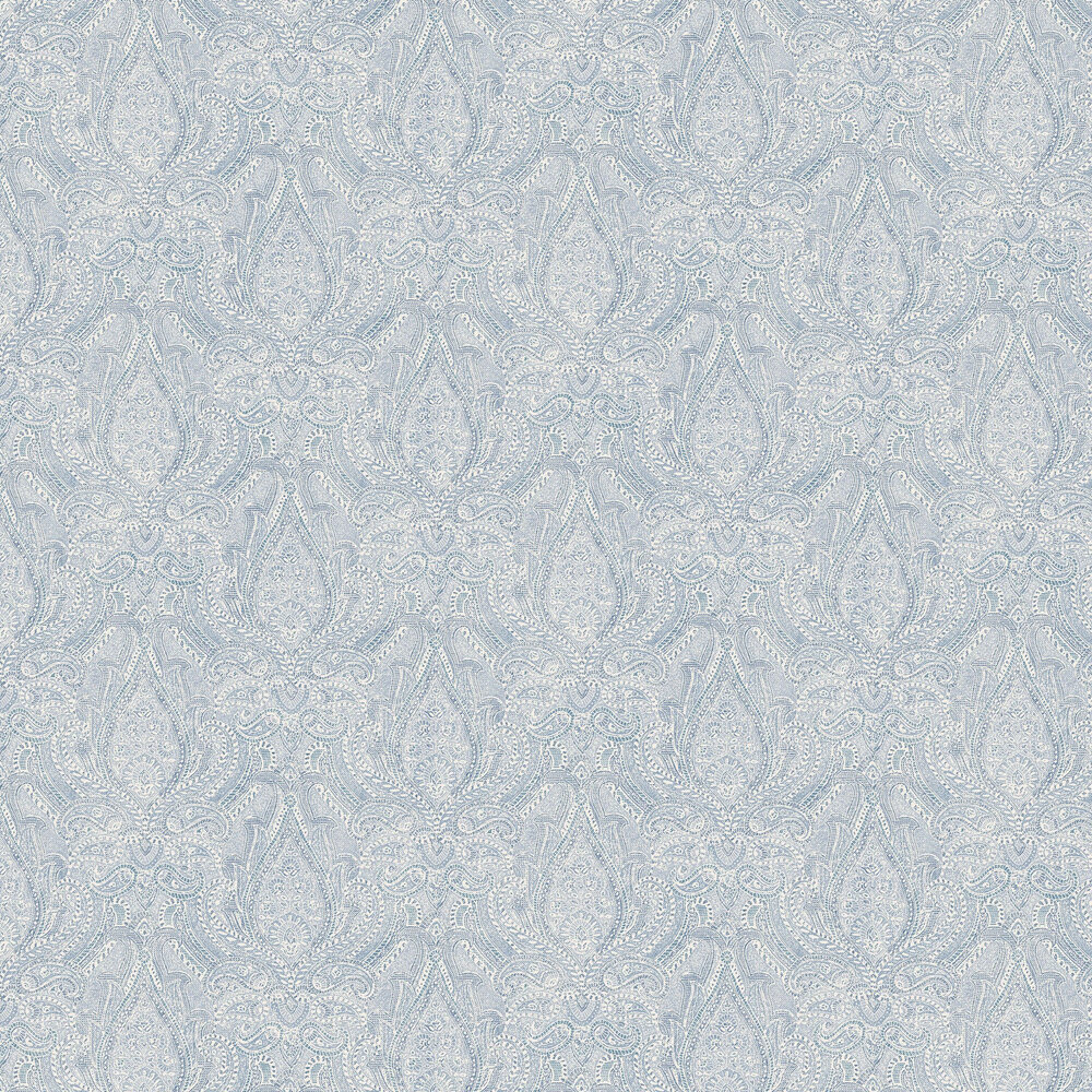 Divine Paisley Wallpaper - Blue - by Boråstapeter