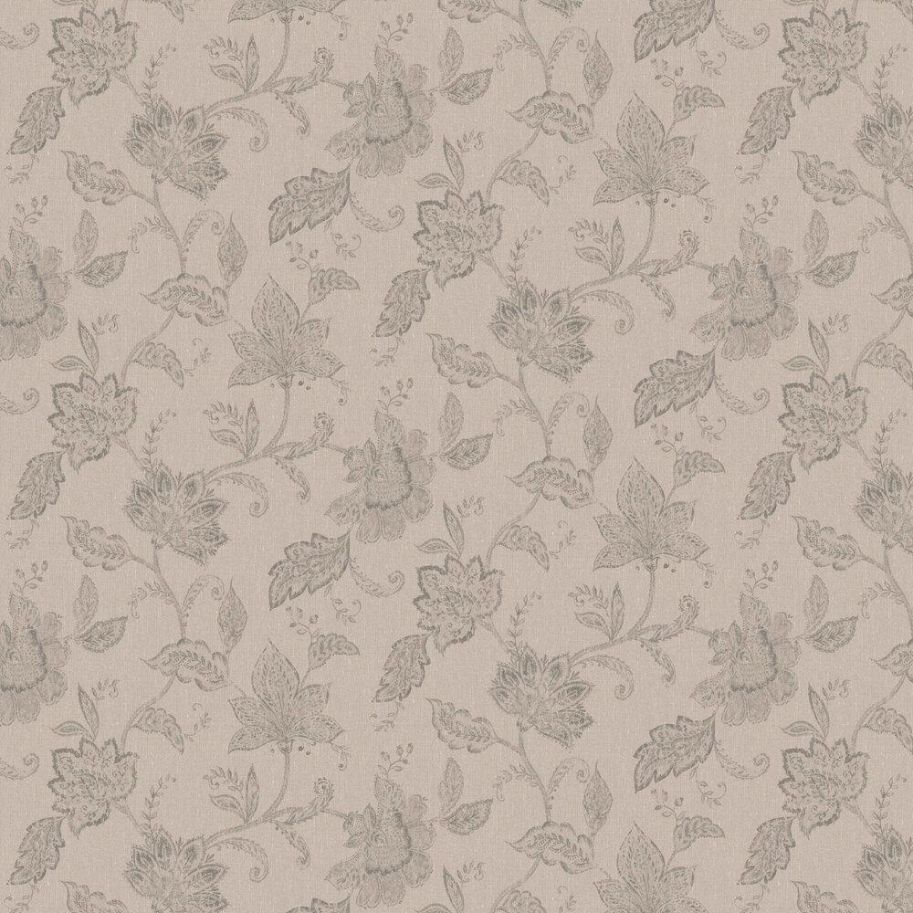 Indigo Bloom Wallpaper - Brown & Beige - by Boråstapeter
