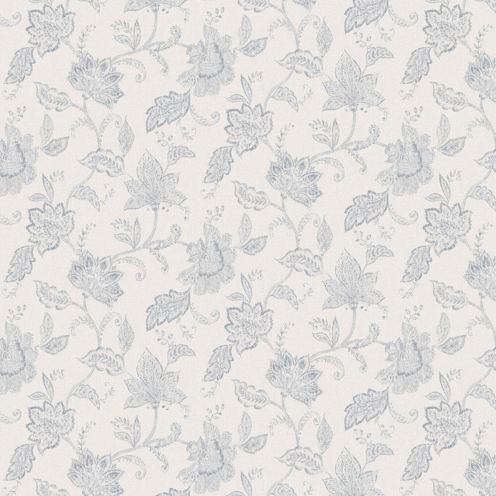 Indigo Bloom Wallpaper - Blue - by Boråstapeter
