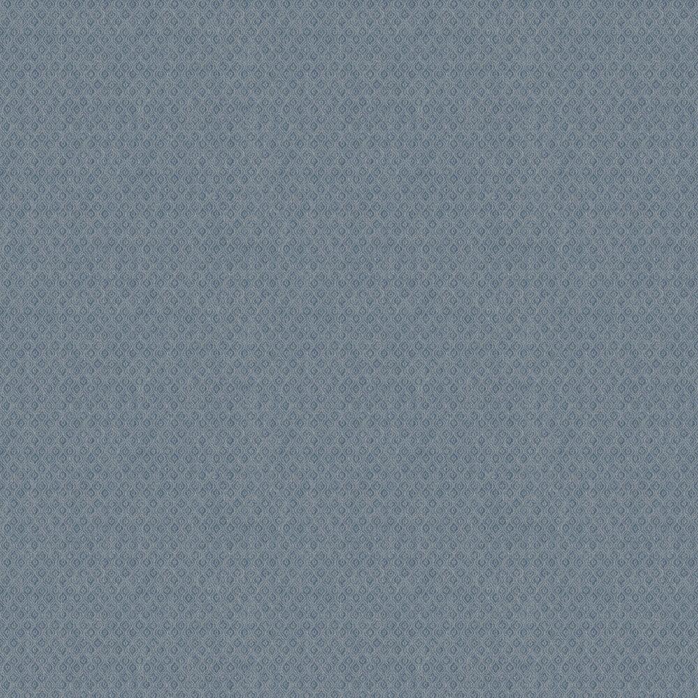 Jaipur Linen Wallpaper - Blue - by Boråstapeter