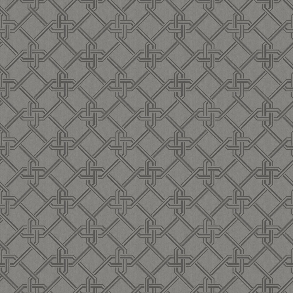 Gianni Foil Wallpaper - Gunmetal / Silver - by Arthouse