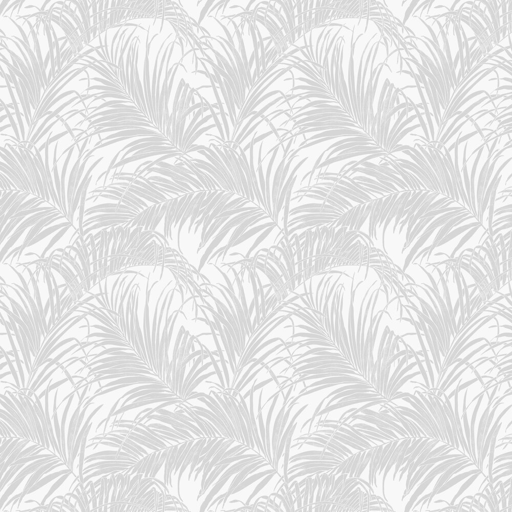Palm Kiss Foil Wallpaper - Sliver / Grey - by Arthouse