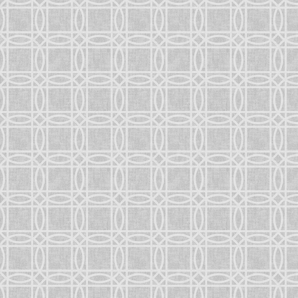Geo Kiss Foil Wallpaper - Grey / Silver - by Arthouse