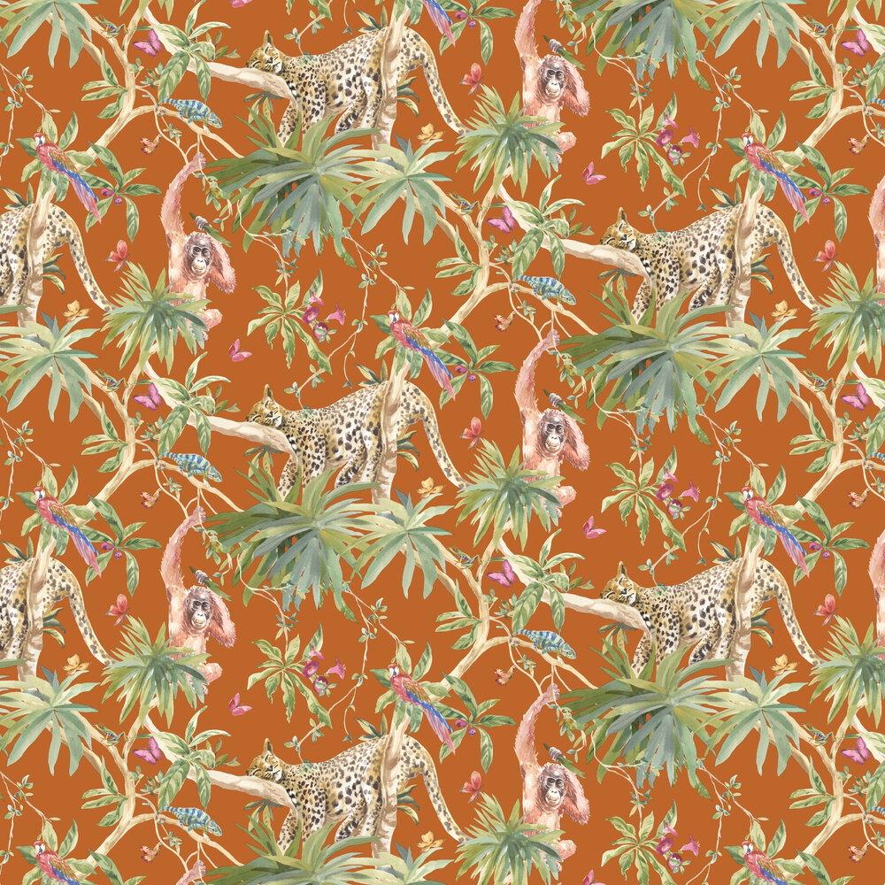 Samroze Wallpaper - Orange - by Albany