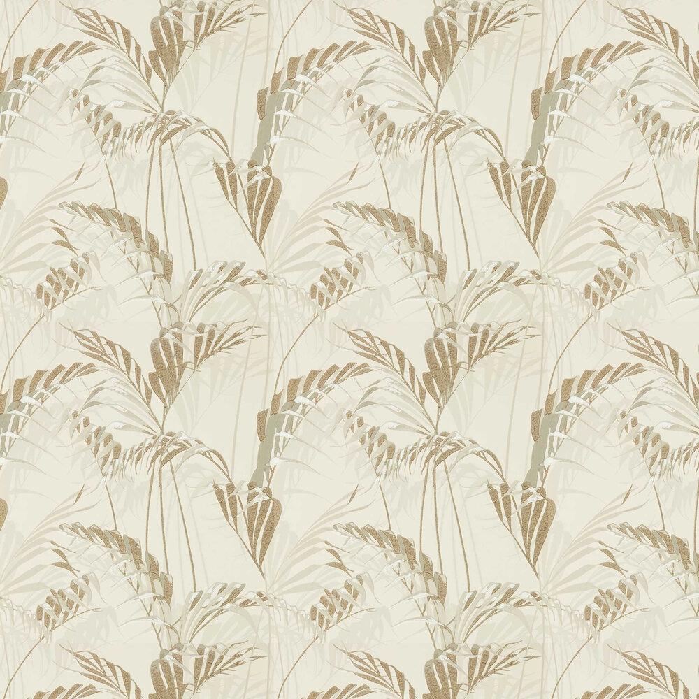 Palm House Wallpaper - Linen / Gilver - by Sanderson