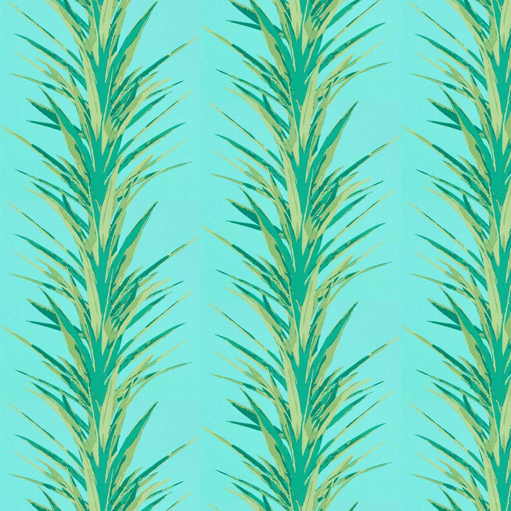 Sanderson Yucca Sky / Green Wallpaper - Product code: 216648