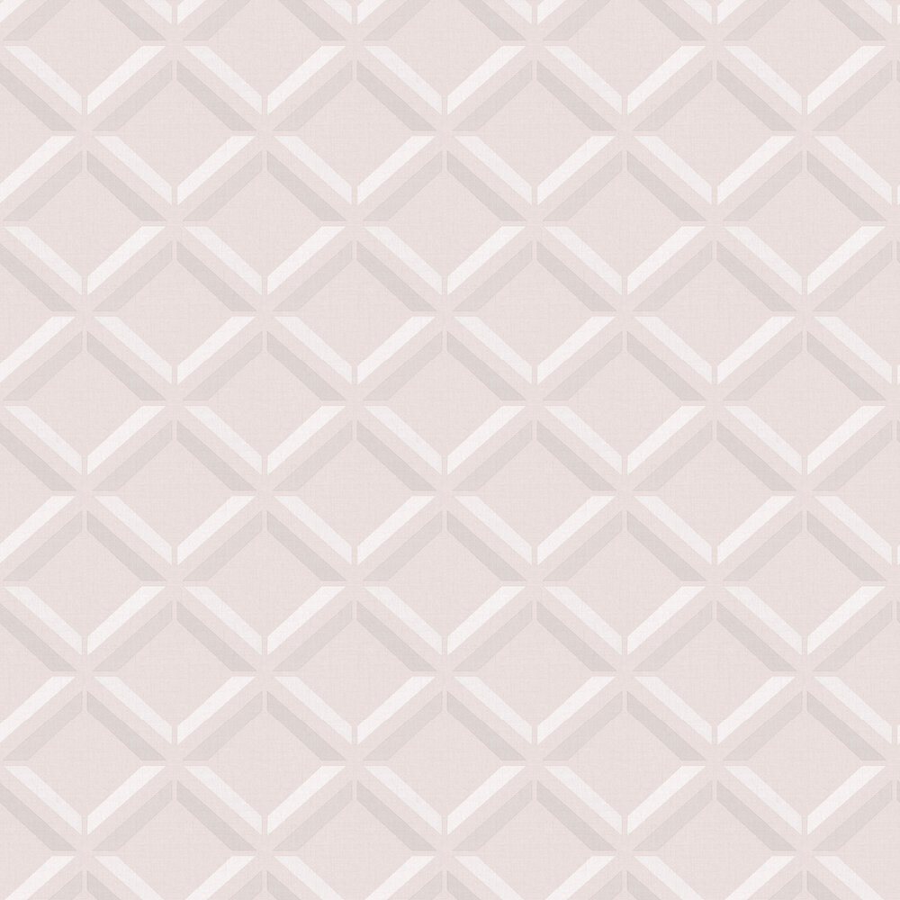 Lana Geo Wallpaper - Pink - by Albany
