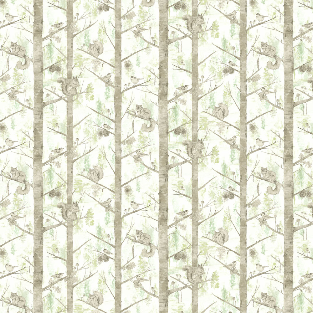 Grizedale Wallpaper - Green - by Albany