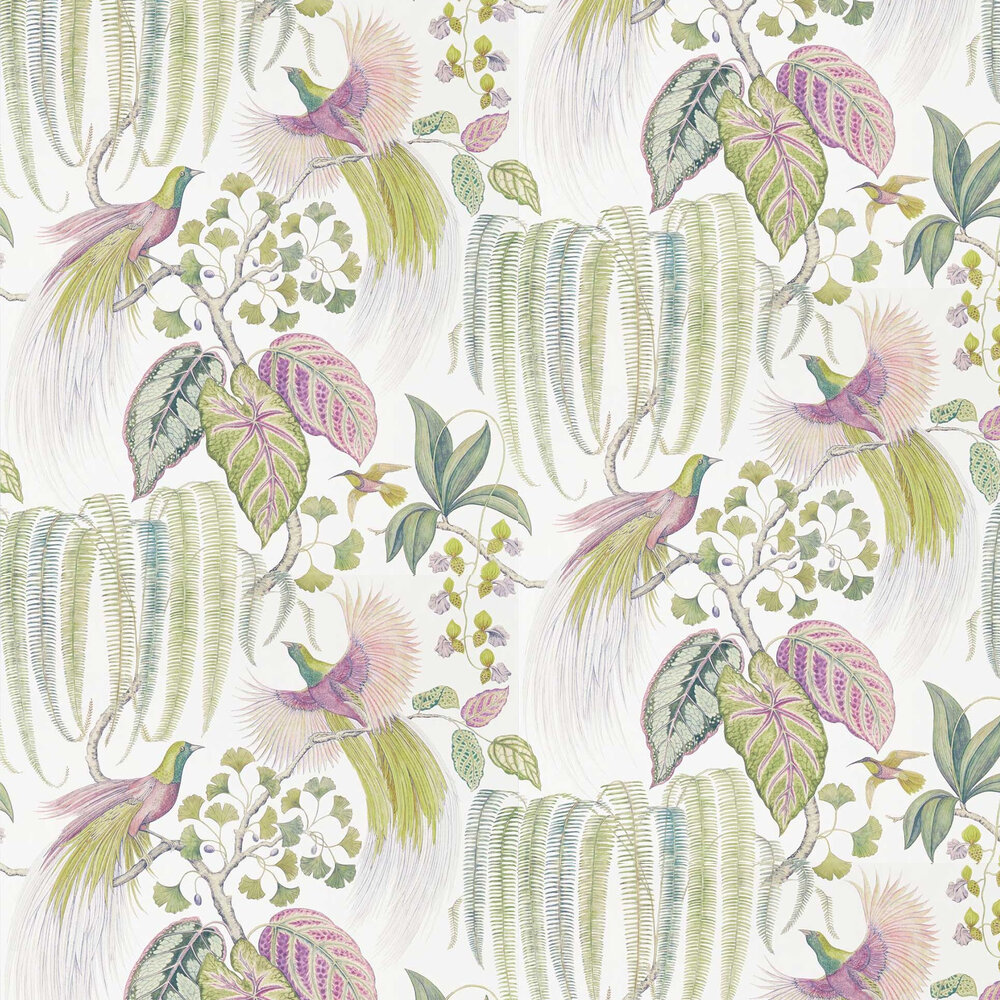 Sanderson Bird of Paradise Orchid Wallpaper - Product code: 216654