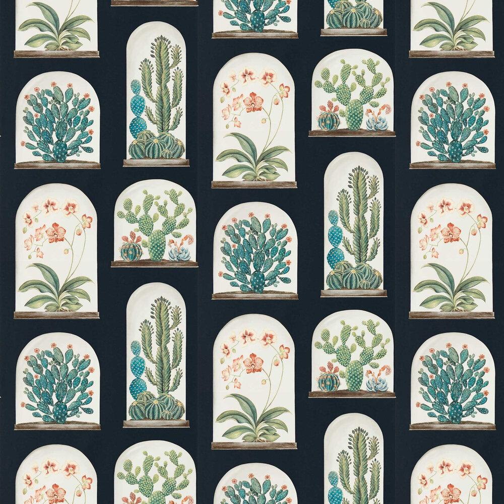 Terrariums Wallpaper - Ink / Multi - by Sanderson