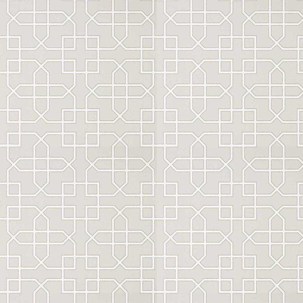 Hampton Trellis Wallpaper - Grey - by Sanderson