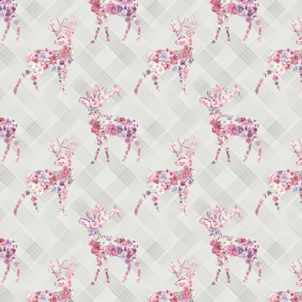 Calla Wallpaper - Dove Grey and Pink - by Albany