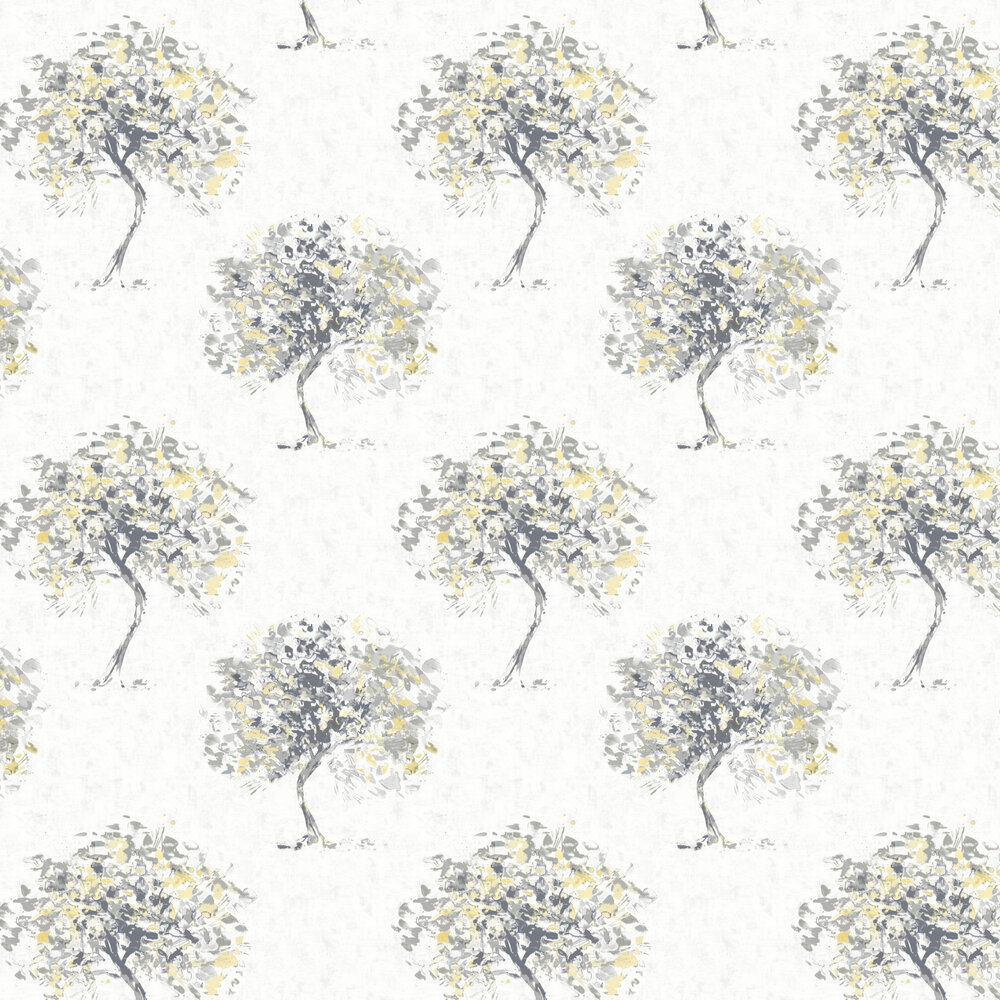 Beacon Fell Wallpaper - Yellow and Grey - by Albany