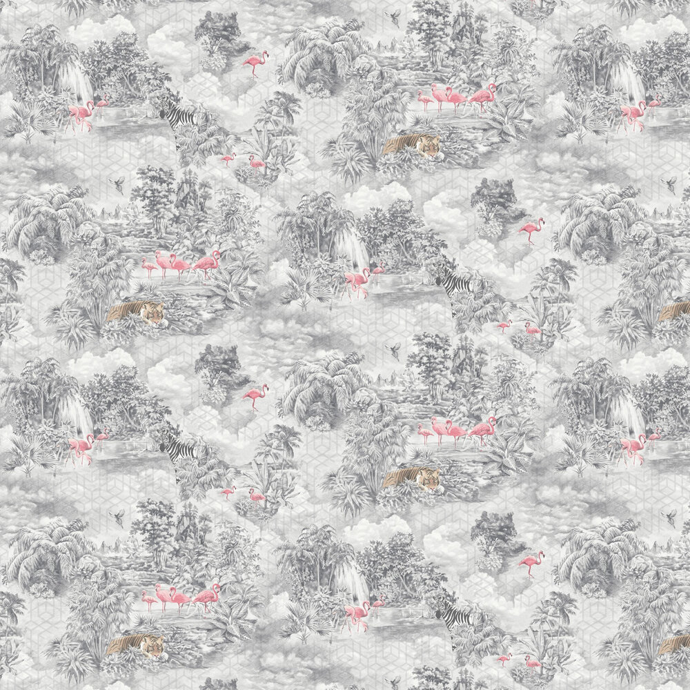 Mayang Wallpaper - Grey - by Albany
