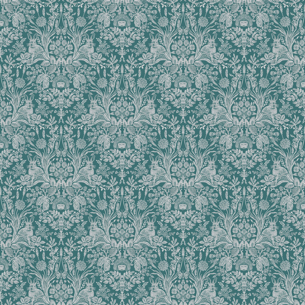 Bexley Wallpaper - Dark Green - by Albany