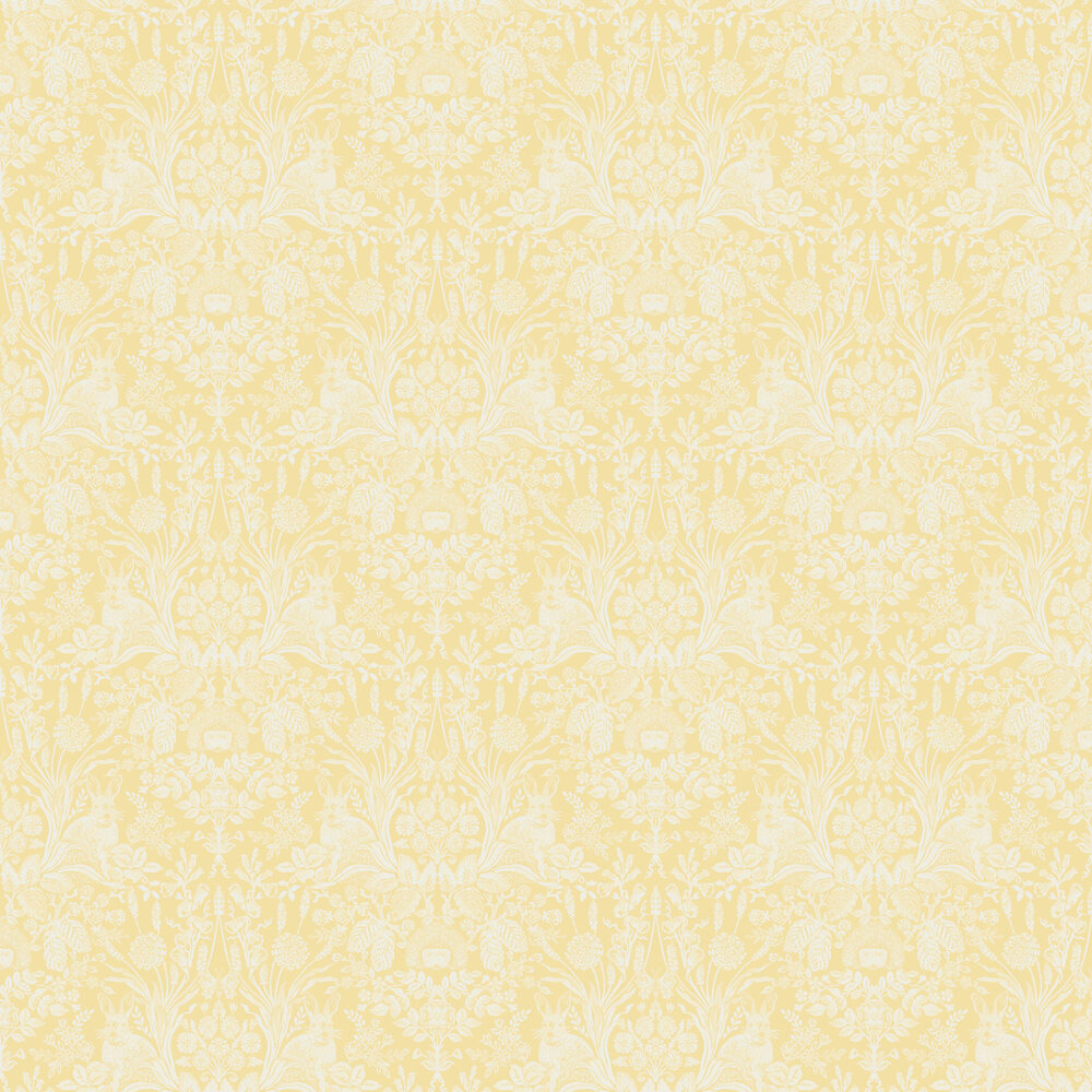 Bexley Wallpaper - Sunshine Yellow - by Albany