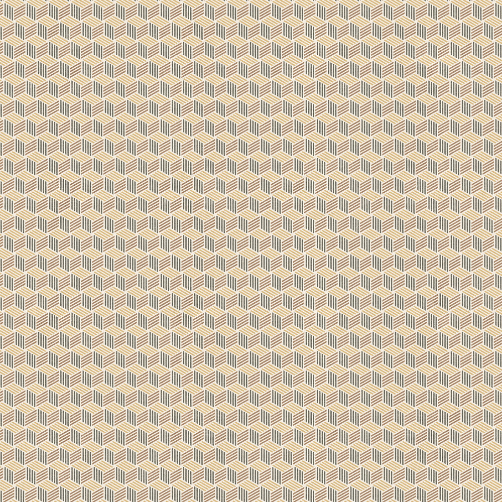 Straw Wallpaper - Yellow - by Coordonne
