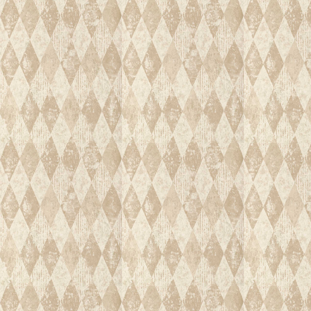 Arlecchino Wallpaper - Linen - by Designers Guild