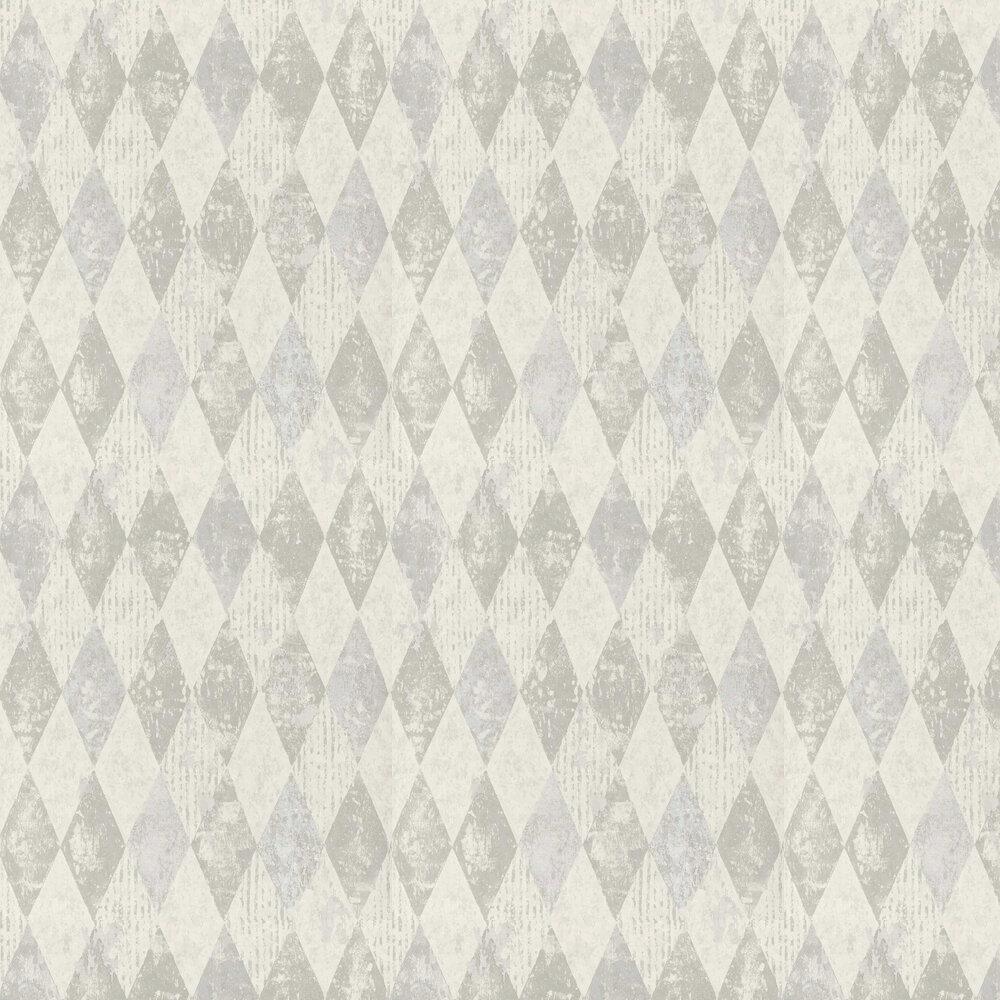 Arlecchino Wallpaper - Concrete - by Designers Guild