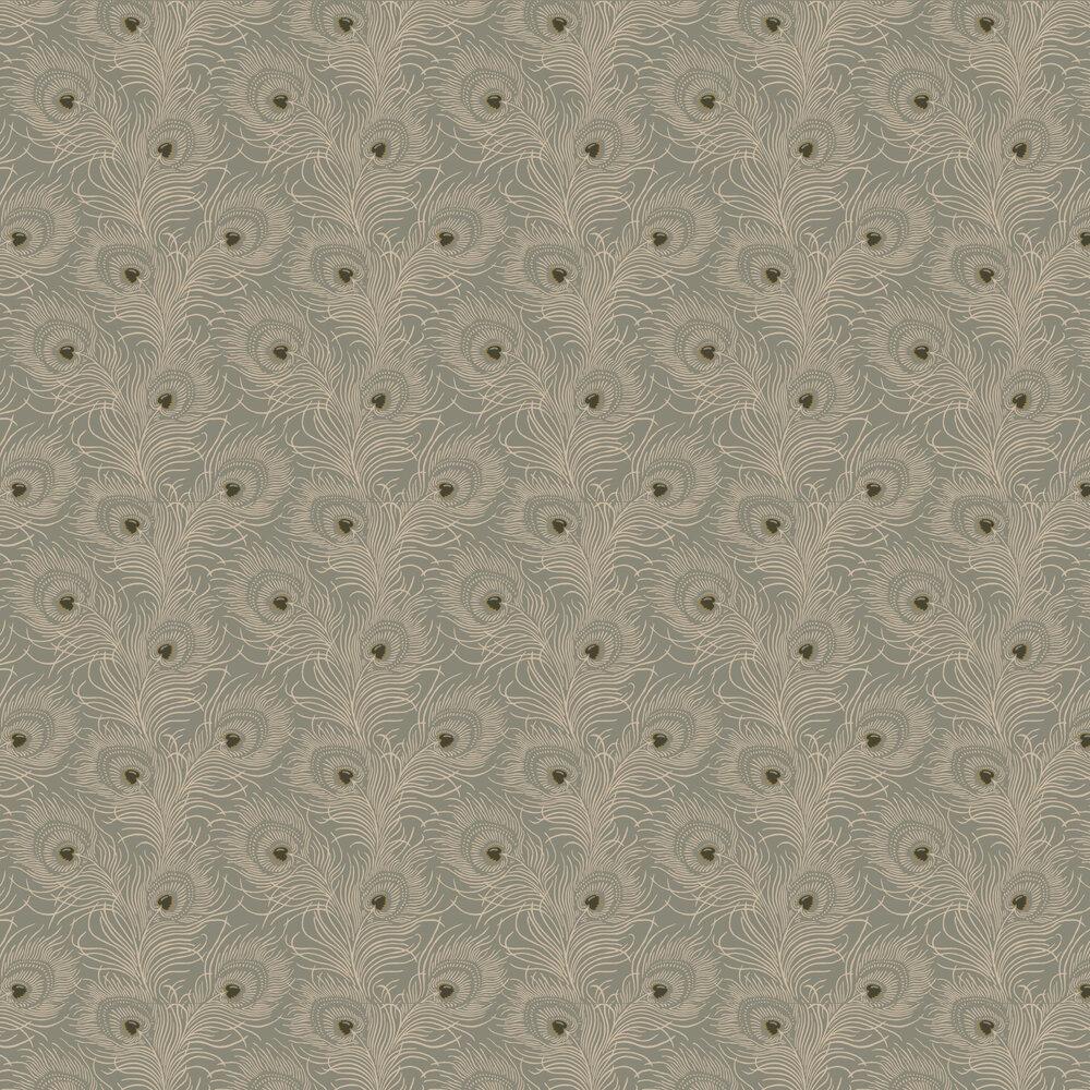 Carlton House Terrace Wallpaper - Slate - by Little Greene