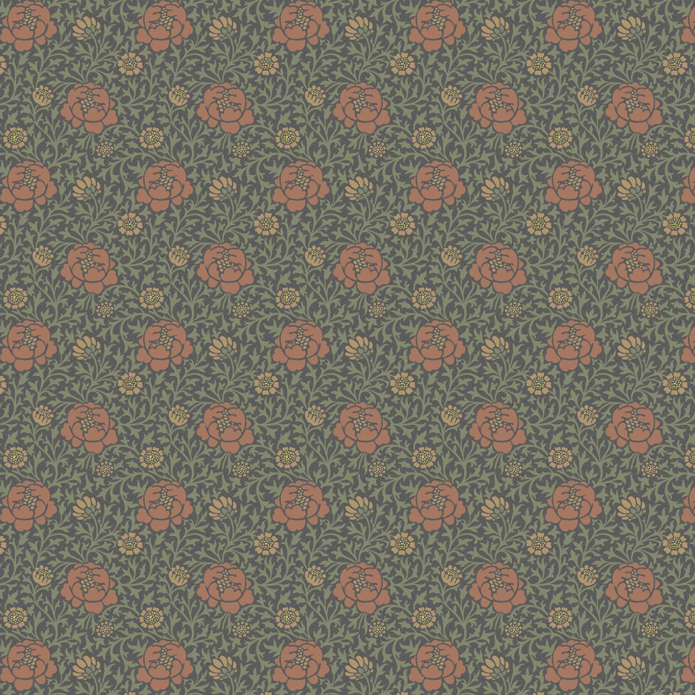 Lansdowne Walk Wallpaper - Ash - by Little Greene