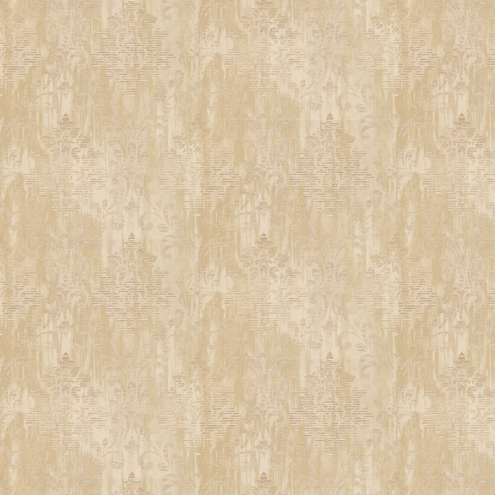 Charice Damask Wallpaper - Gold - by Albany
