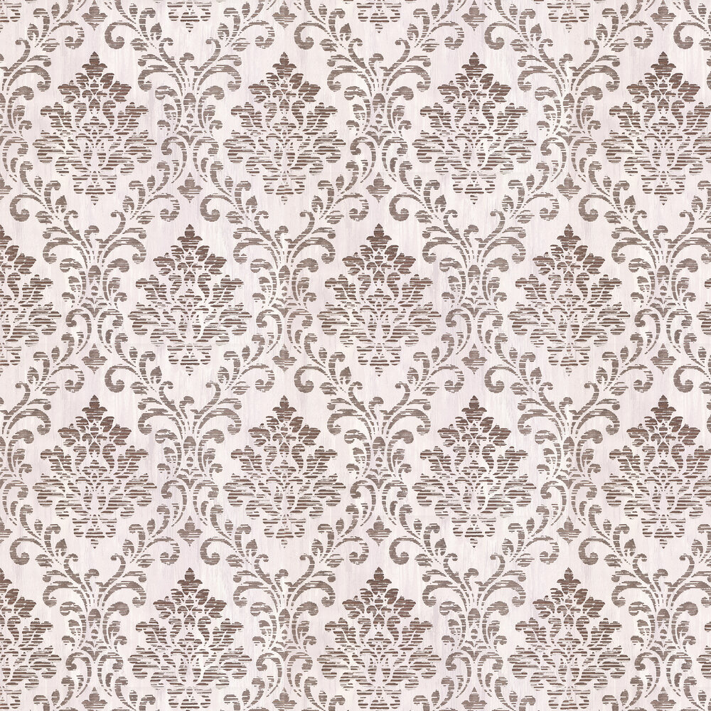 Charice Damask Wallpaper - Rose Gold - by Albany