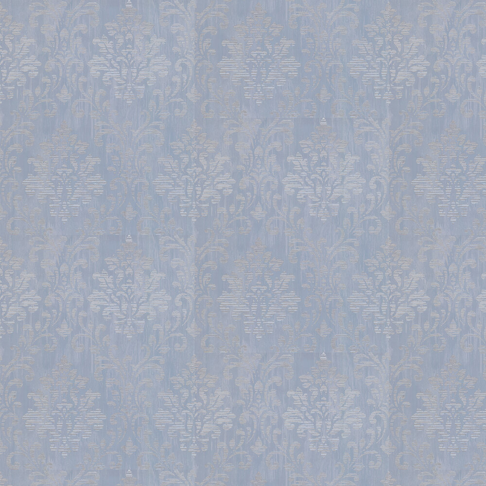 Charice Damask Wallpaper - Blue - by Albany