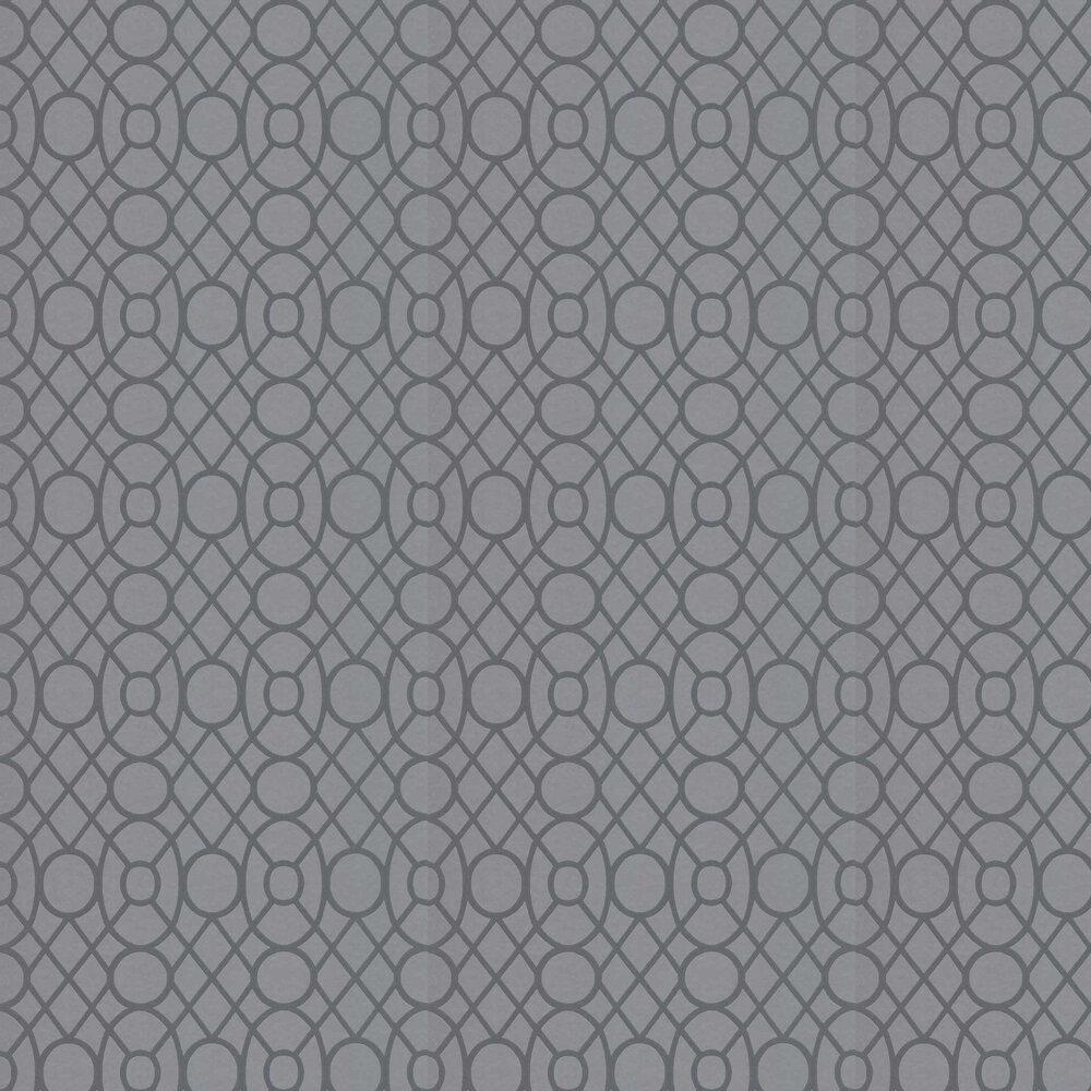 Merletti Wallpaper - Graphite - by Designers Guild