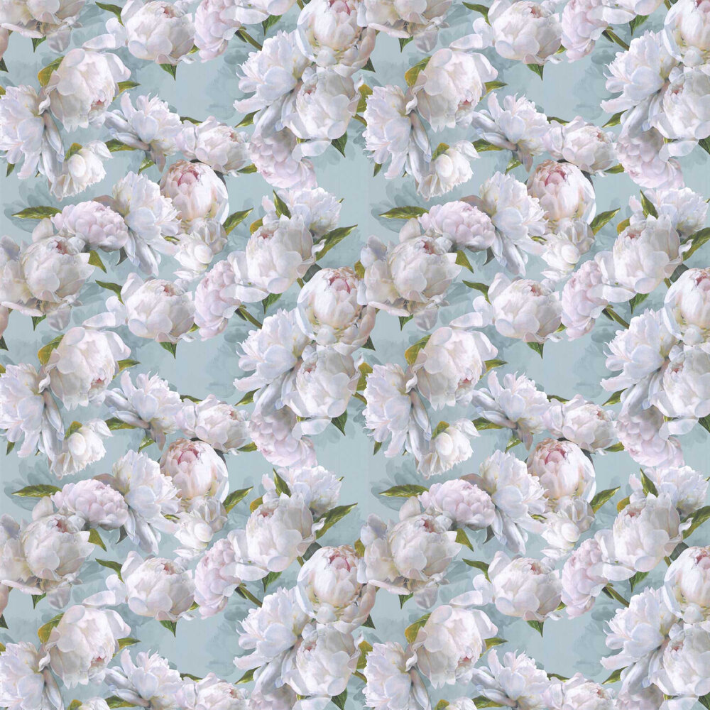 Peonia Wallpaper - Zinc - by Designers Guild