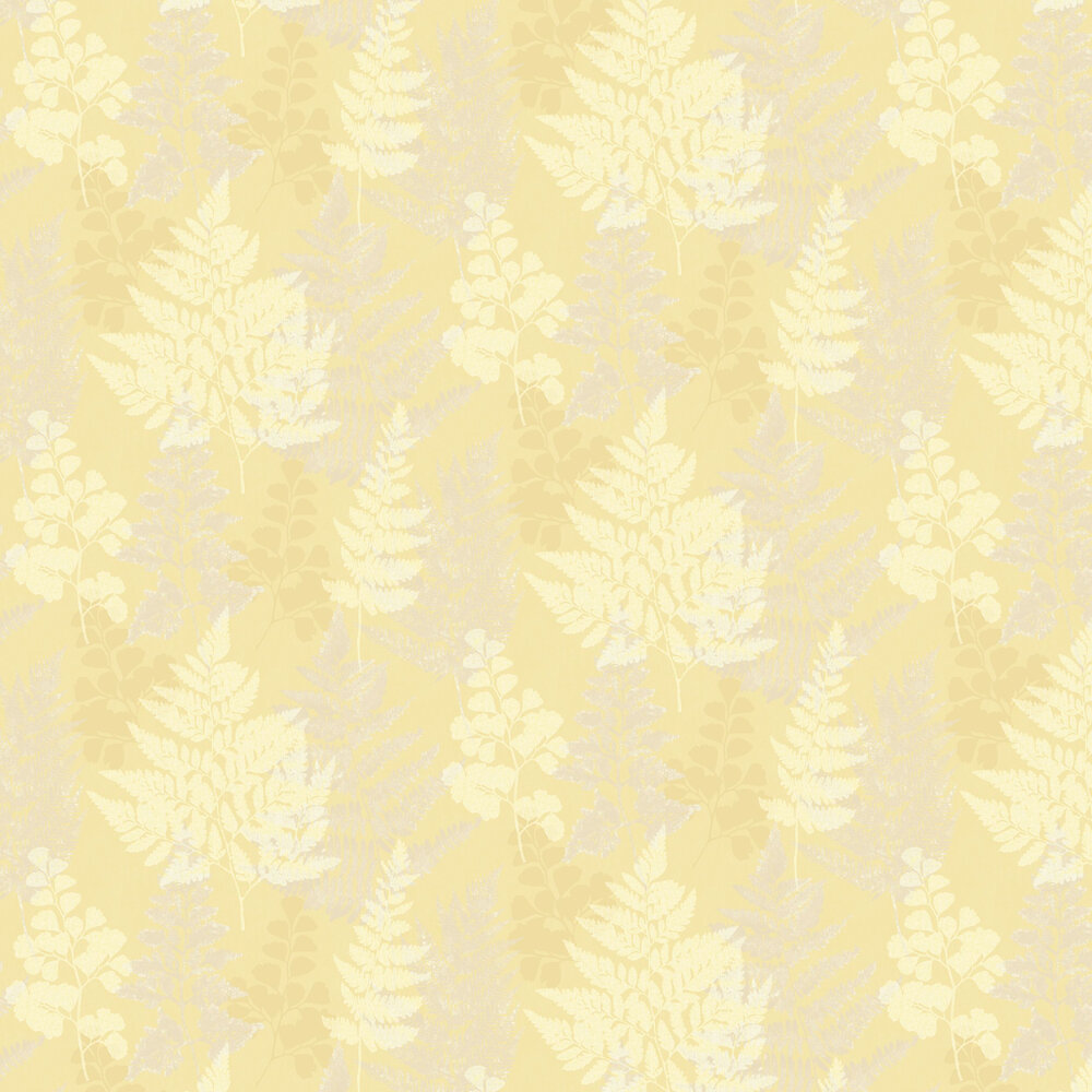 Bramble Wallpaper - Yellow - by Albany