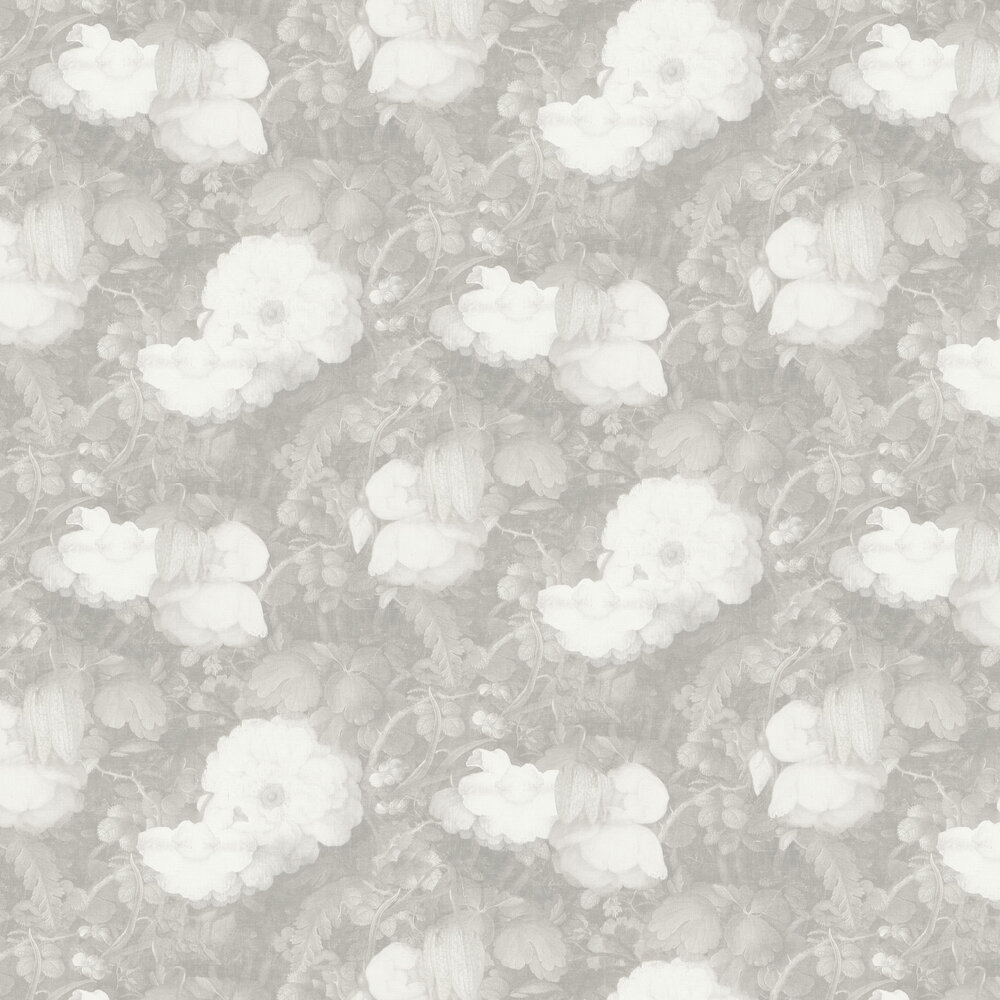 Metropolitan Stories Dutch Floral Silver Wallpaper - Product code: 36921-4