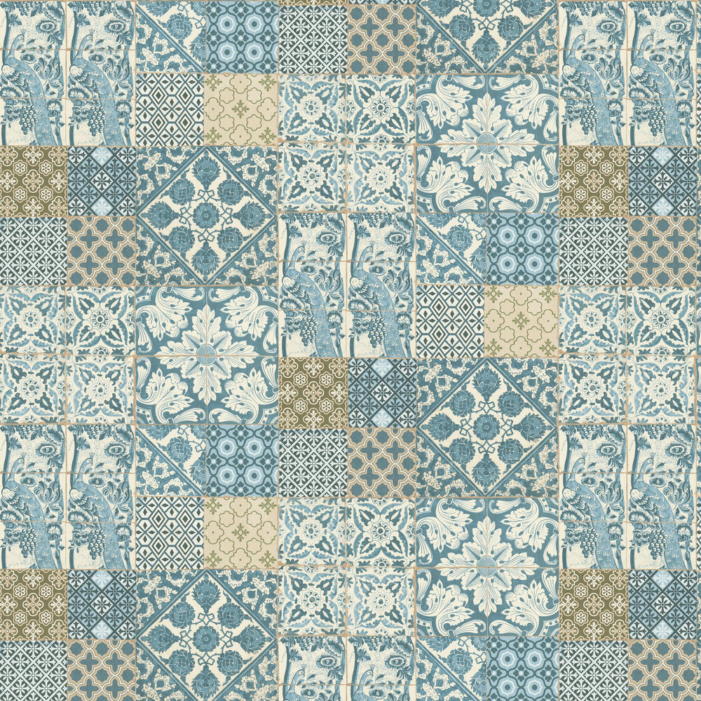 Dutch Tile Wallpaper - Light Blue - by Metropolitan Stories