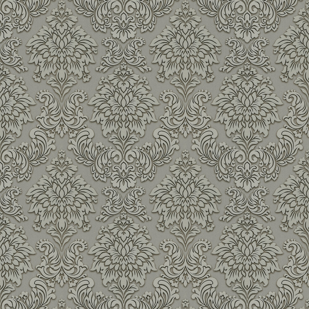 Metropolitan Stories Contemporary Damask Grey Wallpaper - Product code: 36898-1
