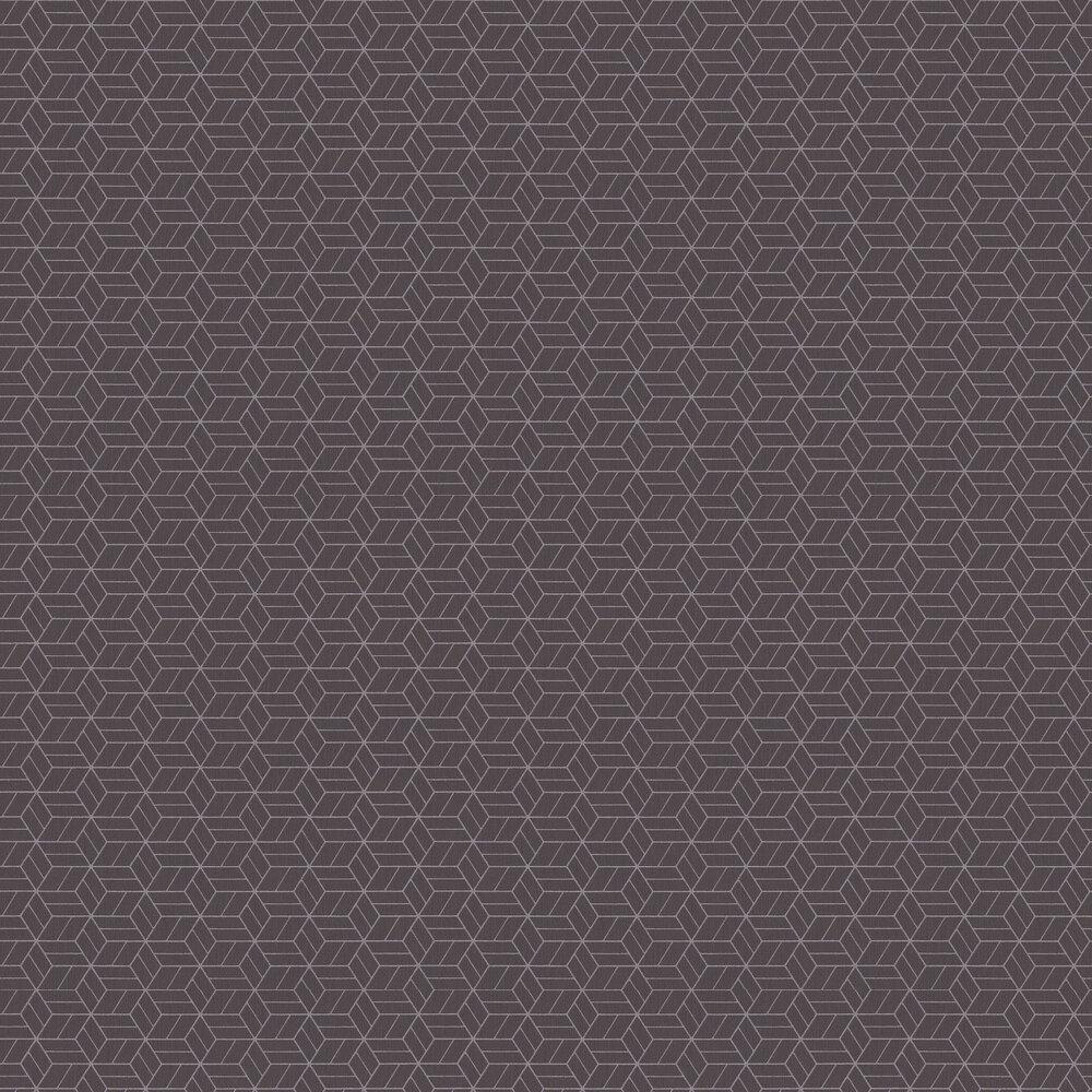 Geo Hexagon Wallpaper - Chocolate - by Metropolitan Stories