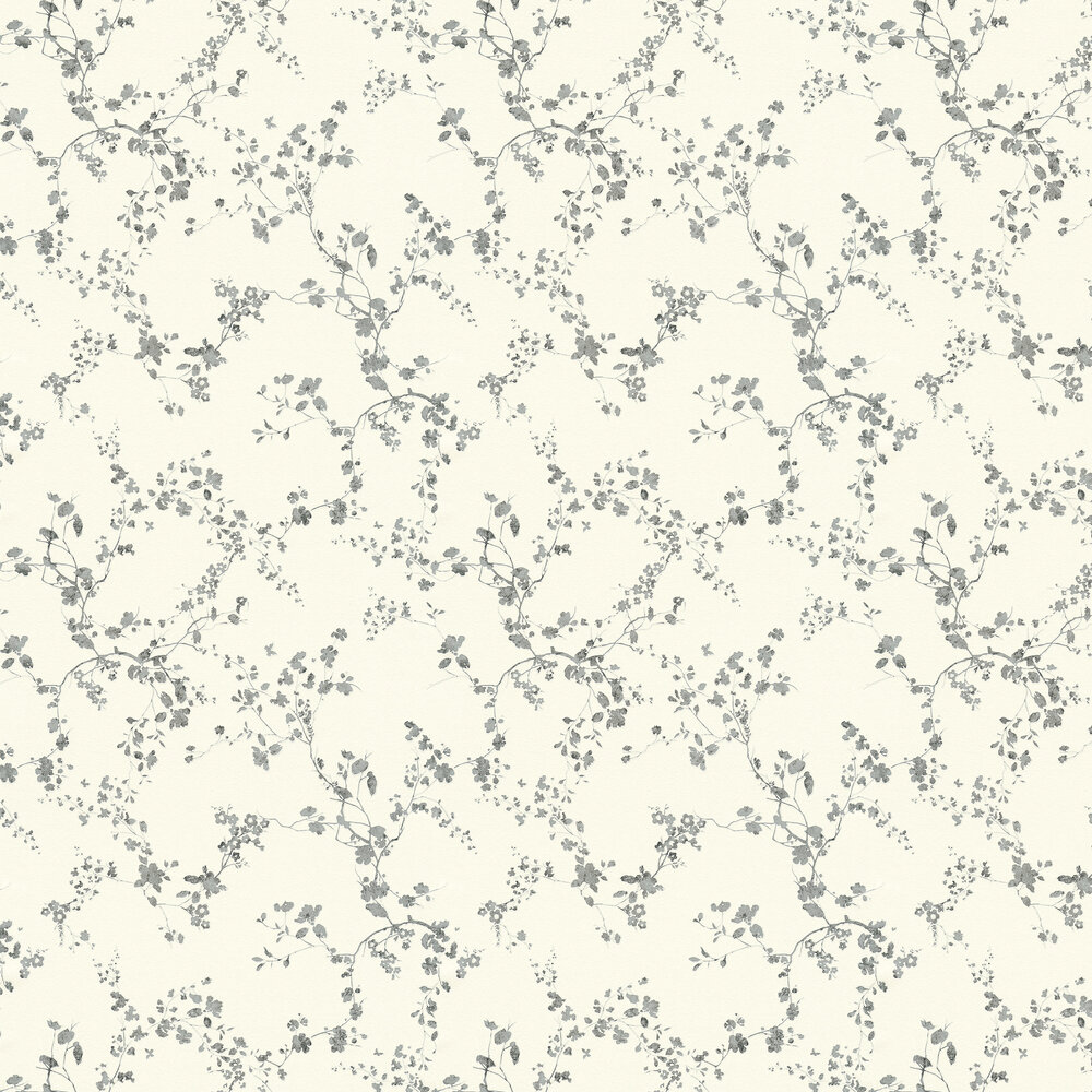 Spring Blossom Wallpaper - Black / White - by Metropolitan Stories