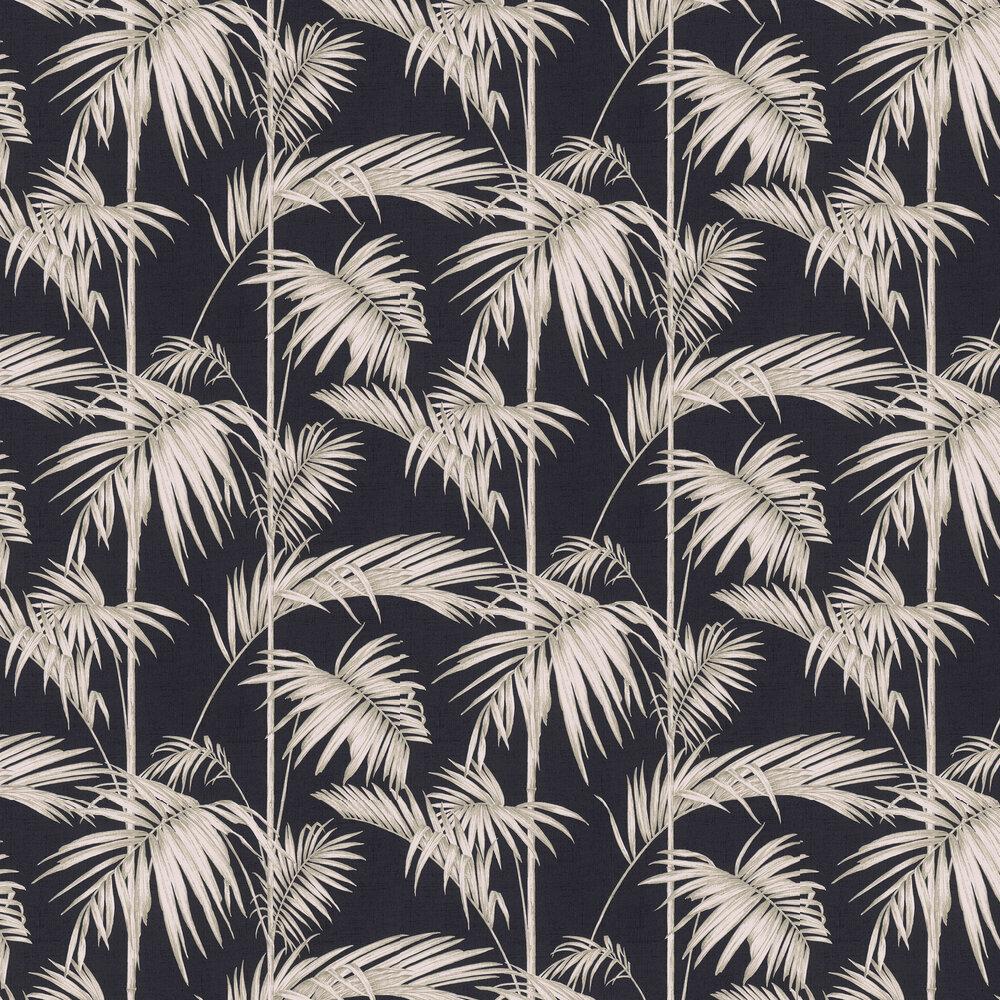 Palm Wallpaper - Black / Blush - by Metropolitan Stories
