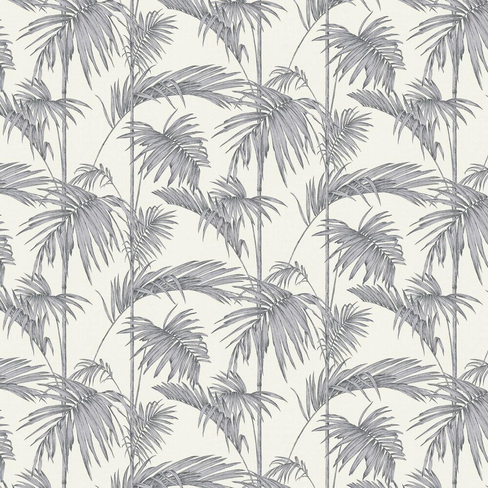 Palm Wallpaper - Grey - by Metropolitan Stories