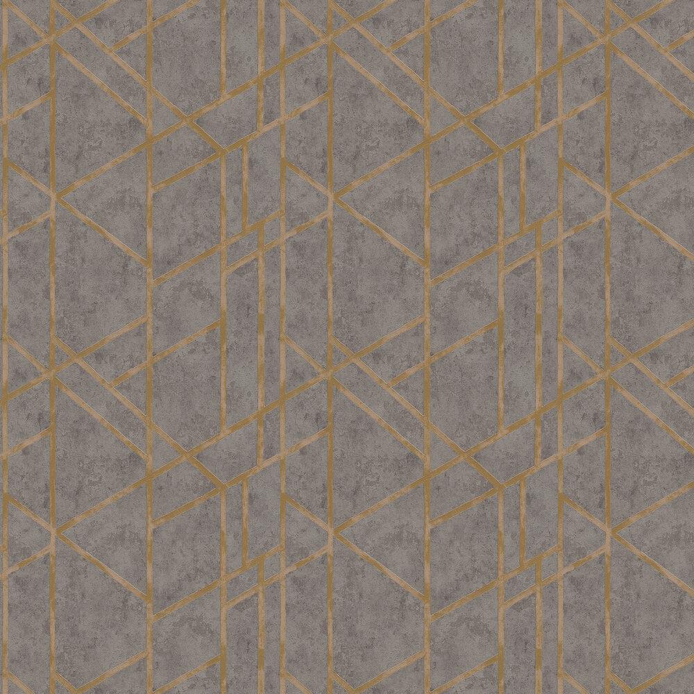 Geometric Wallpaper - Charcoal Grey - by Metropolitan Stories