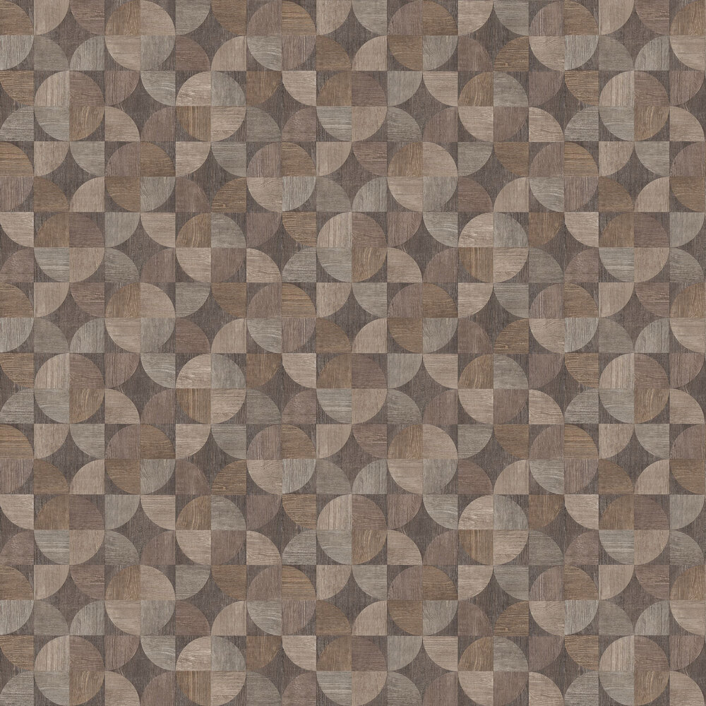 Metropolitan Stories Wood Geo Brown / Grey Wallpaper - Product code: 36913-1