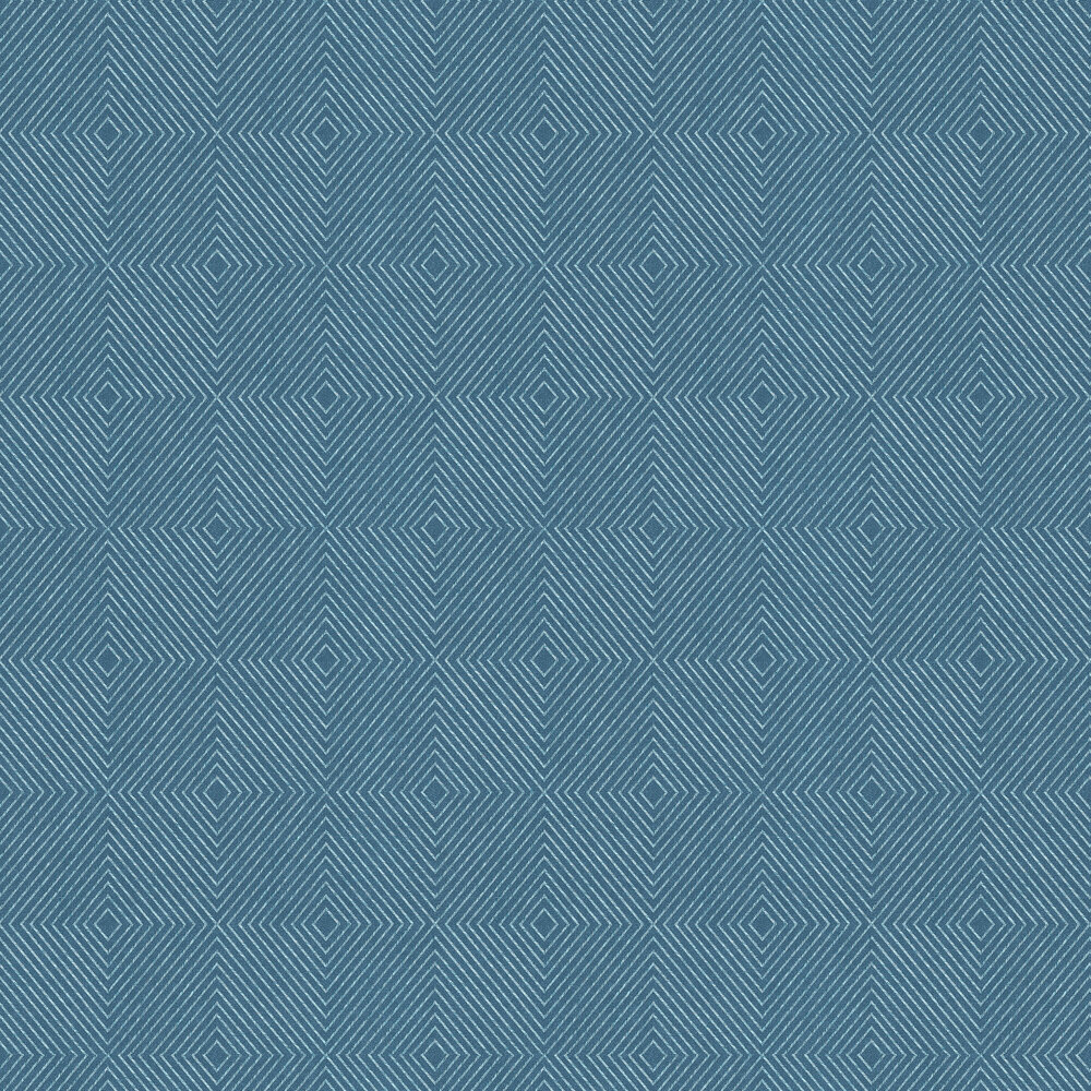Geometric Wallpaper - Kingfisher - by Metropolitan Stories