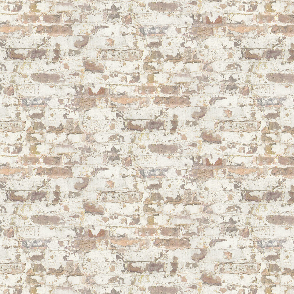Metropolitan Stories Distressed Plaster Brown Wallpaper - Product code: 36929-1