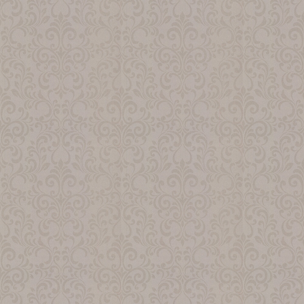 Luxe Damask Wallpaper - Champagne - by Lipsy London