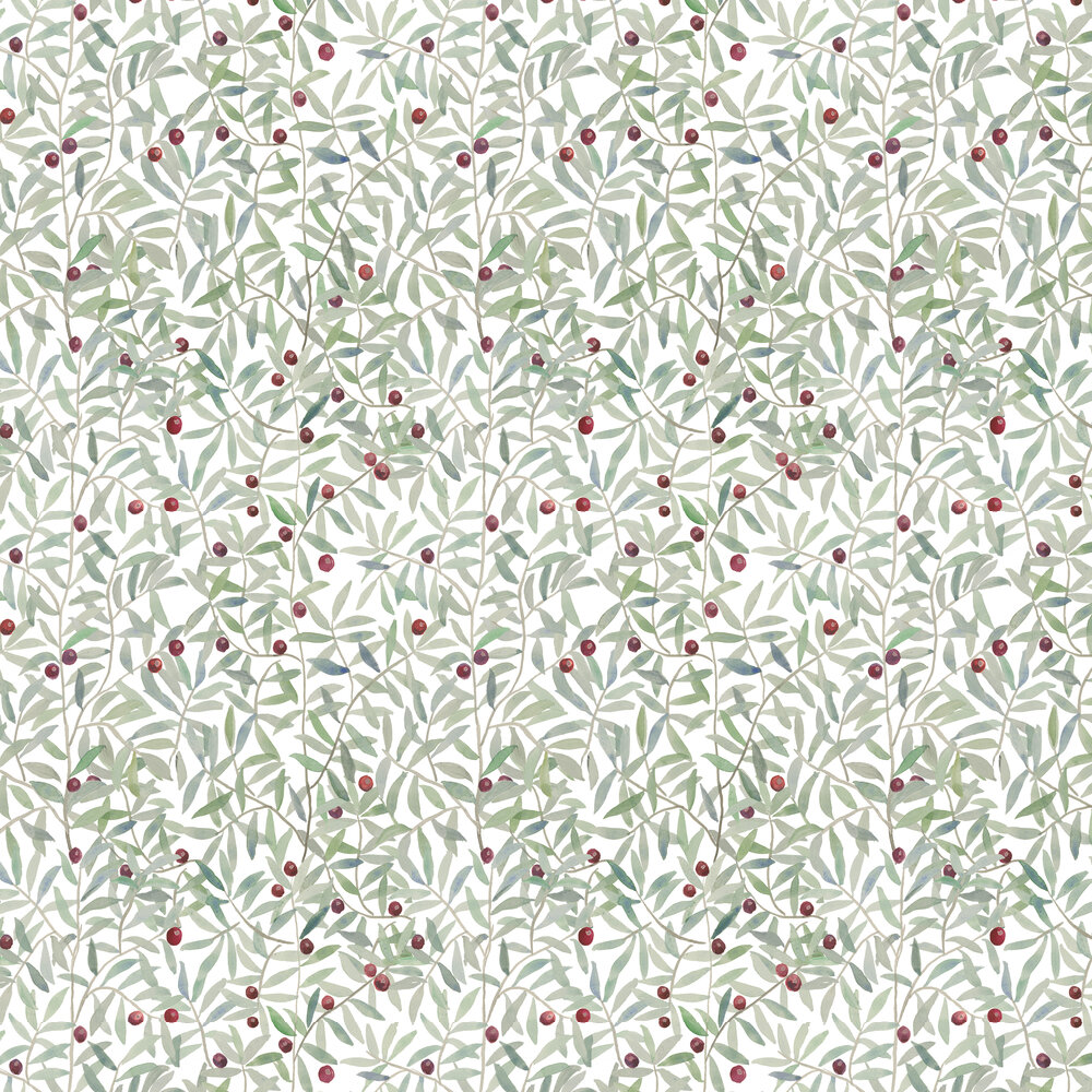 Coordonne Leaf Craze White Wallpaper - Product code: 8000008